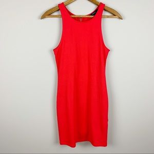 FOREVER 21 Classic Red Dress Bodycon Full Zip
